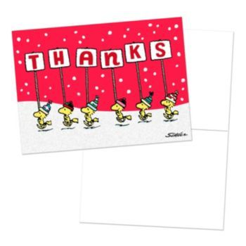 Peanuts Woodstock  Friends Thank You Cards By Hallmark  Peanuts
