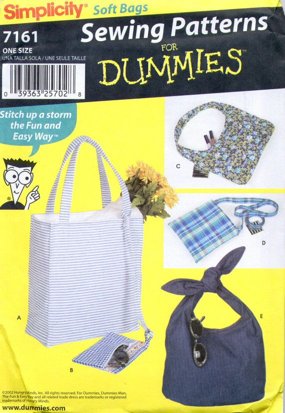 S7161 Simplicity Sewing for Dummies Pattern by TonisSewingPatterns ...