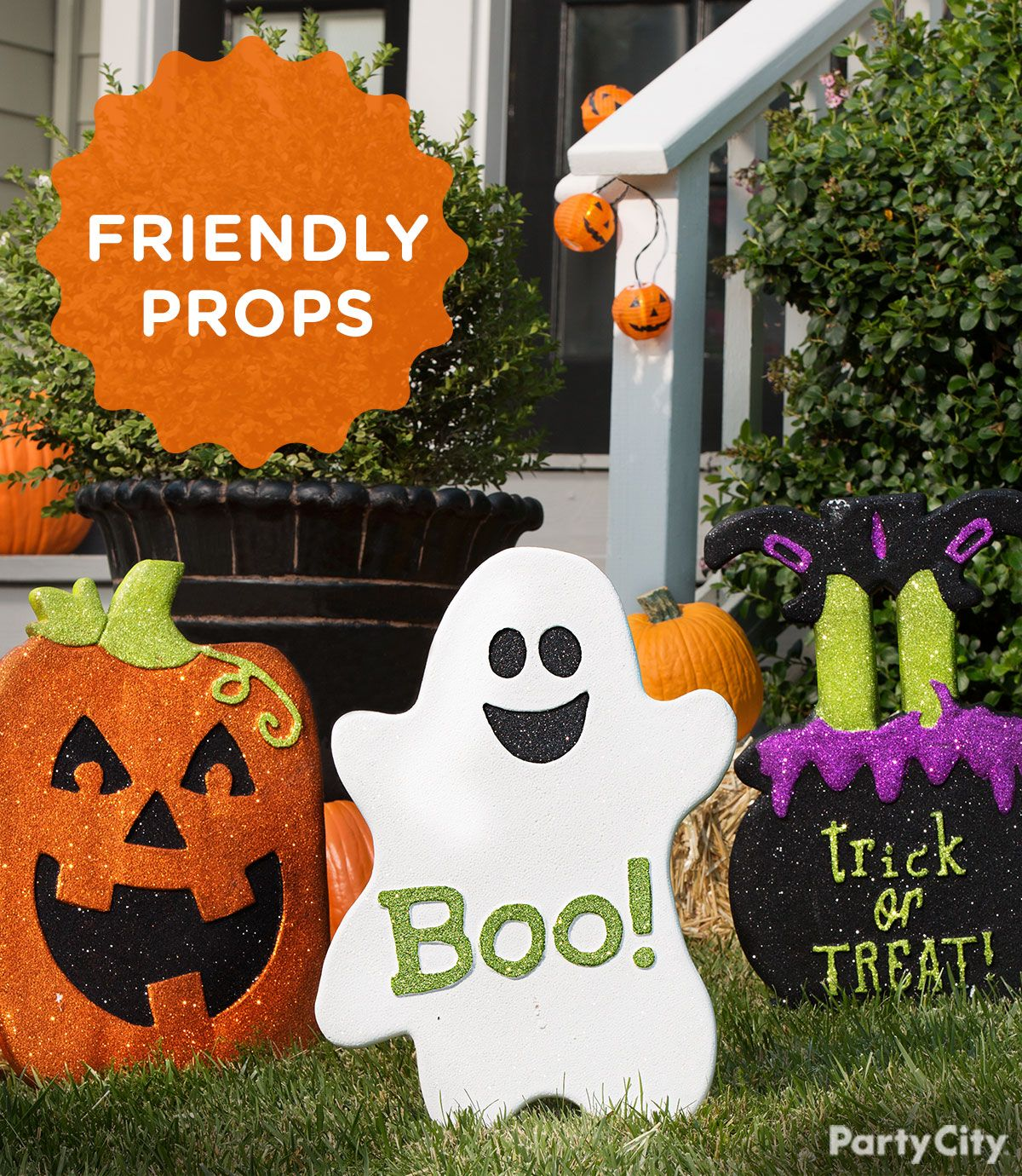 pumpkins, and witches, and ghosts, oh my! dress up your front yard