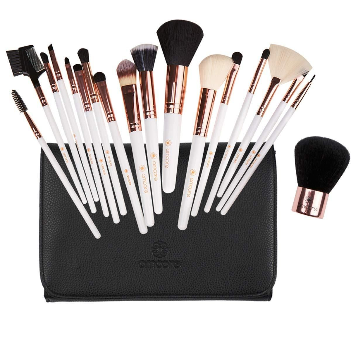 12pcs Makeup Brushes Kit plus Brush Powder Case Foundation