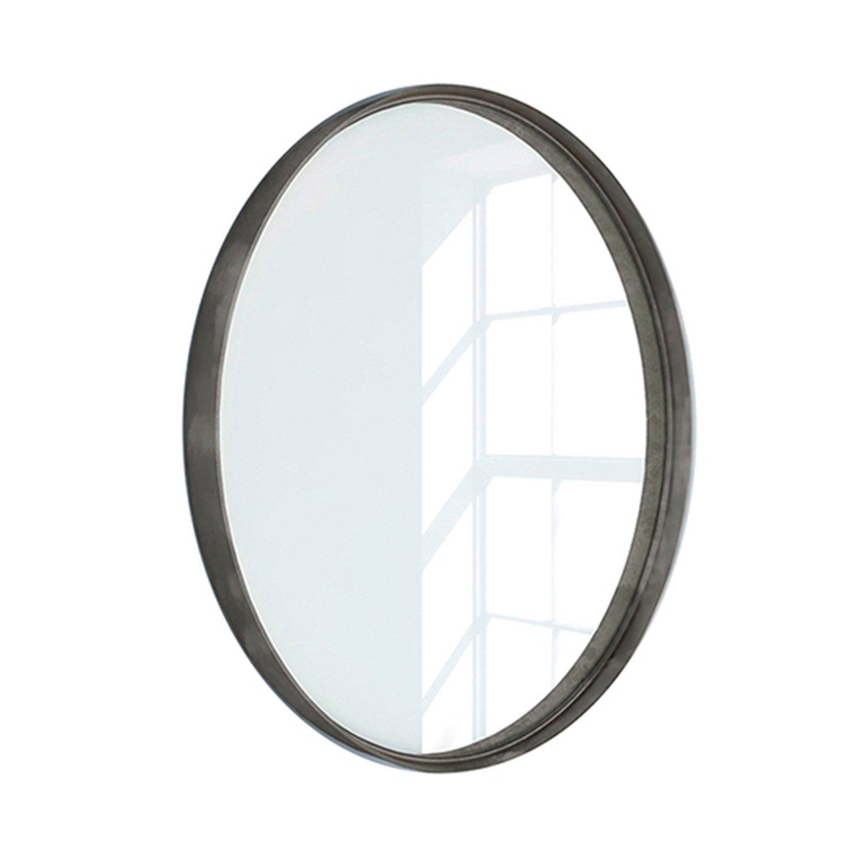 Miroir Encadre L 60 X H 60 Cm Diam 60 Cm Argent Vielli Randal Kende Miroir Argent Et Decoration Cadre