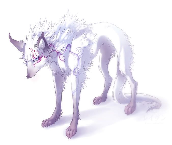 I love this wolf's design, and the drawing!