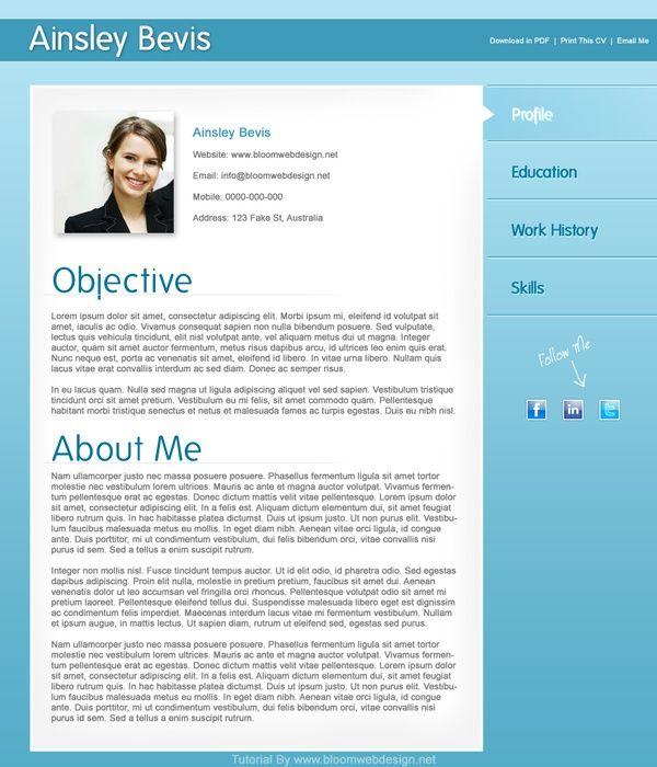 resume templates Resume Samples Pinterest Resume objective
