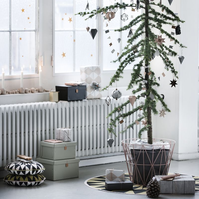 skandinavische weihnachtsdekoration von ferm living bei. Black Bedroom Furniture Sets. Home Design Ideas