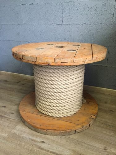 Wooden Spool Coffee Table, 1980s #cablespooltables