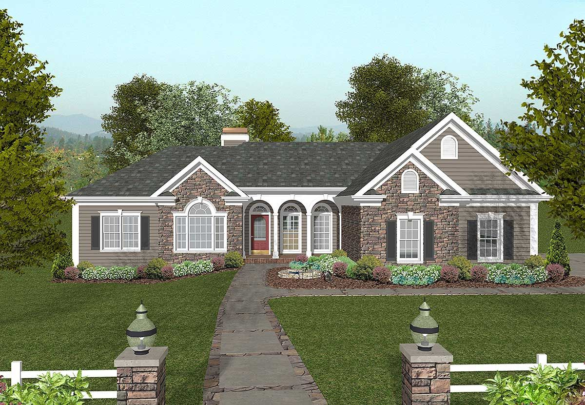 Architectural designs also plan ga traditional home with exquisite master suite house rh nl pinterest