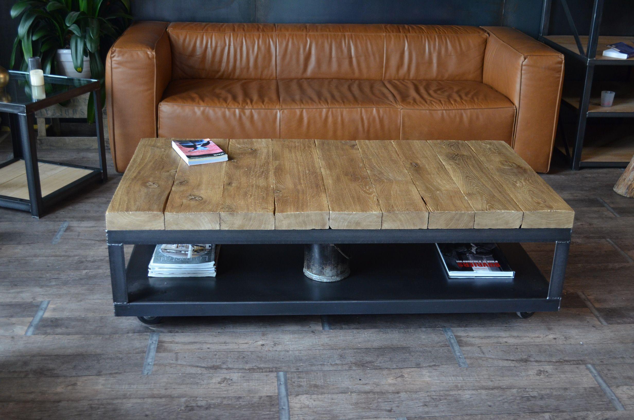 meuble de style industriel table basse