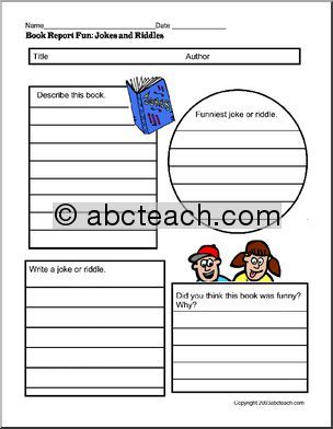 Printable Book Report Forms For All Genres  StudyHomework Tips