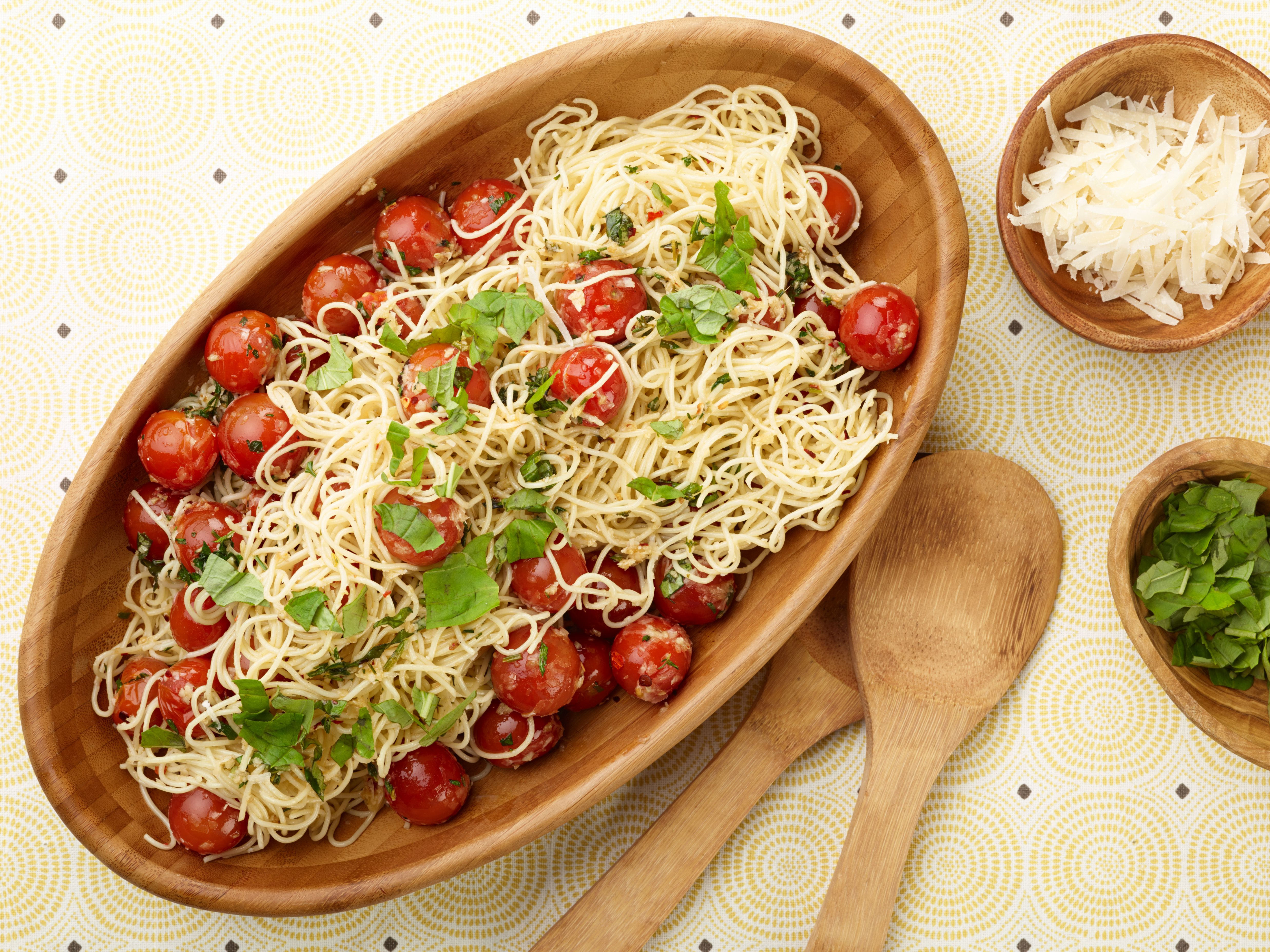 Capellini With Tomatoes And Basil Recipe Ina Garten