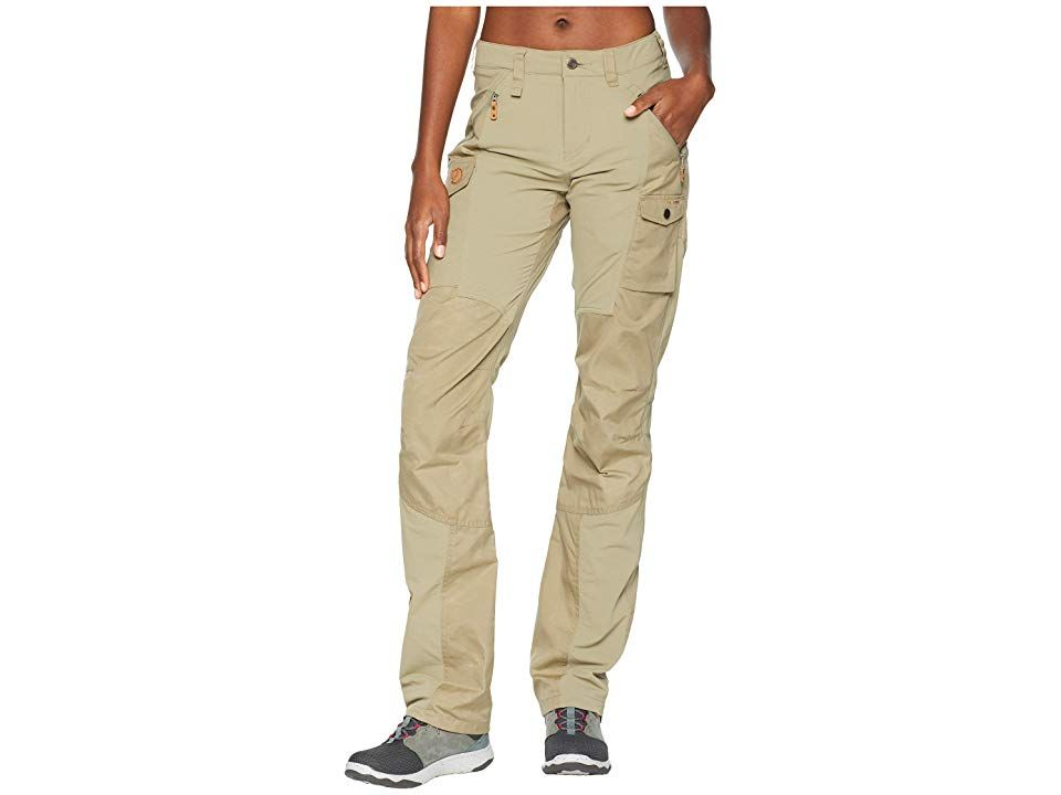 Fjallraven Nikka Curved Trousers Savanna Womens Casual Pants Move with the mountains and let nature guide the way with the Nikka Curved Trousers Curved fit pants features...