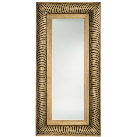 Add an artful touch to any room with this stylish mirror, perfect paired with mirrors and leather furniture for a handsome look.Pr...