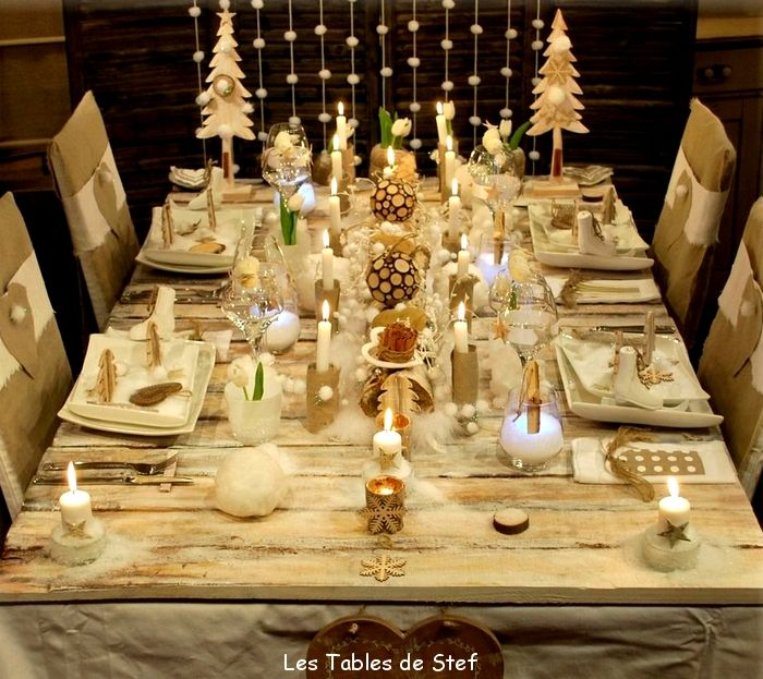 Christmas table decoration decoration eve table tables for Presentation de table de noel