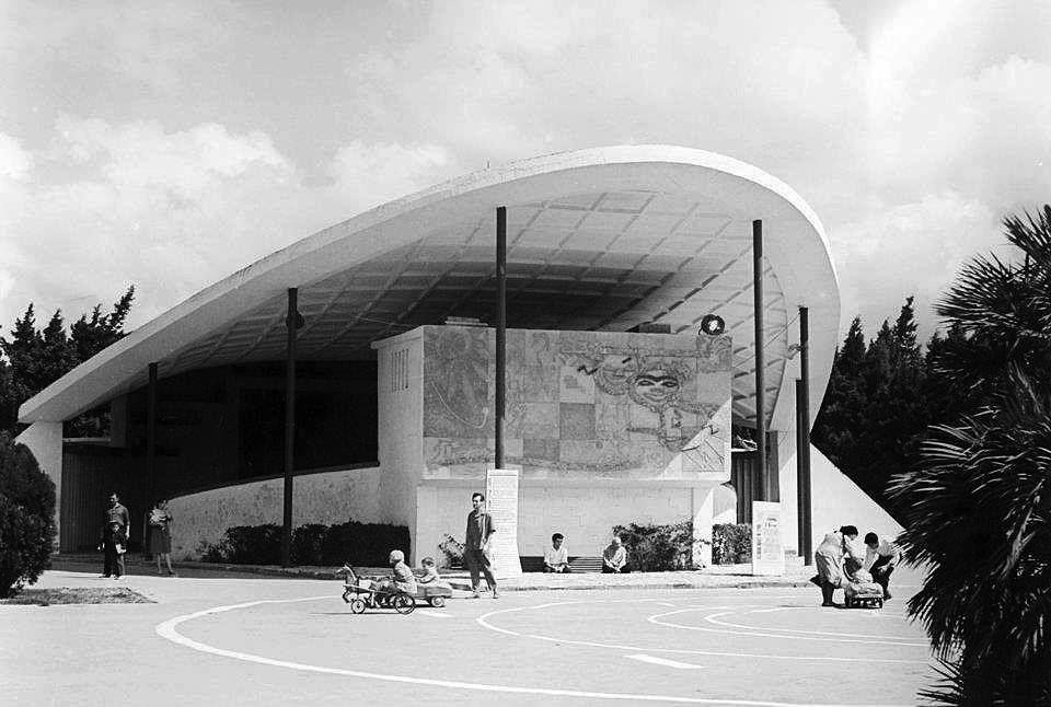 Pin By Parviz Polukhzada On Architecture Of Soviet Azerbaijan Cloud Gate Architecture Clouds