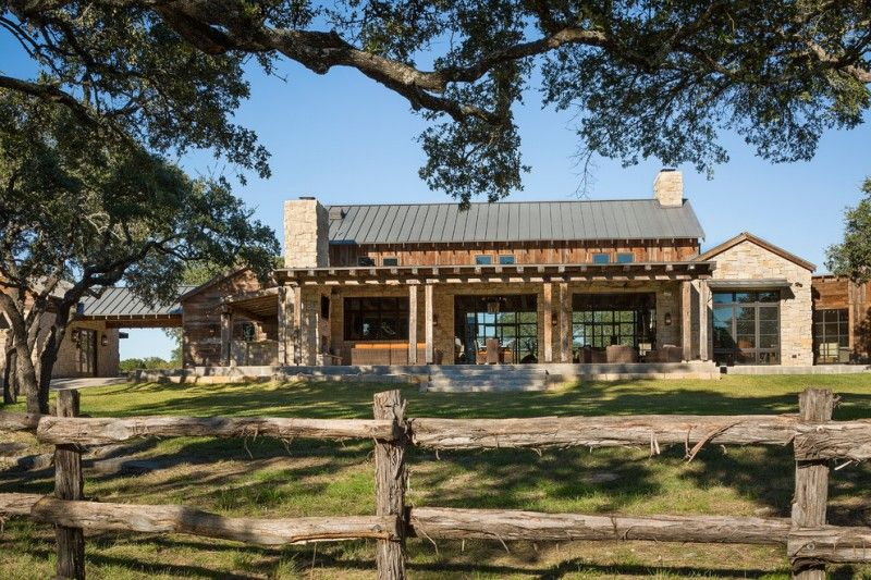 hill country house plans cedar stone windows door rood chimney stairs chairs wall lamps stones of