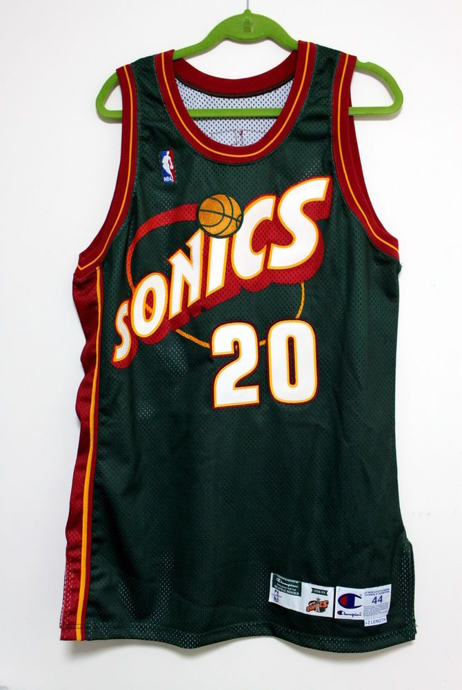 1cf395a6bea gary payton signed 1998-99 champion nba supersonics game used road jersey  sonics from  999.0