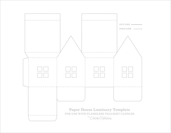 Free 5 Paper House Samples In Pdf Psd Paper House Template House Template Template Printable