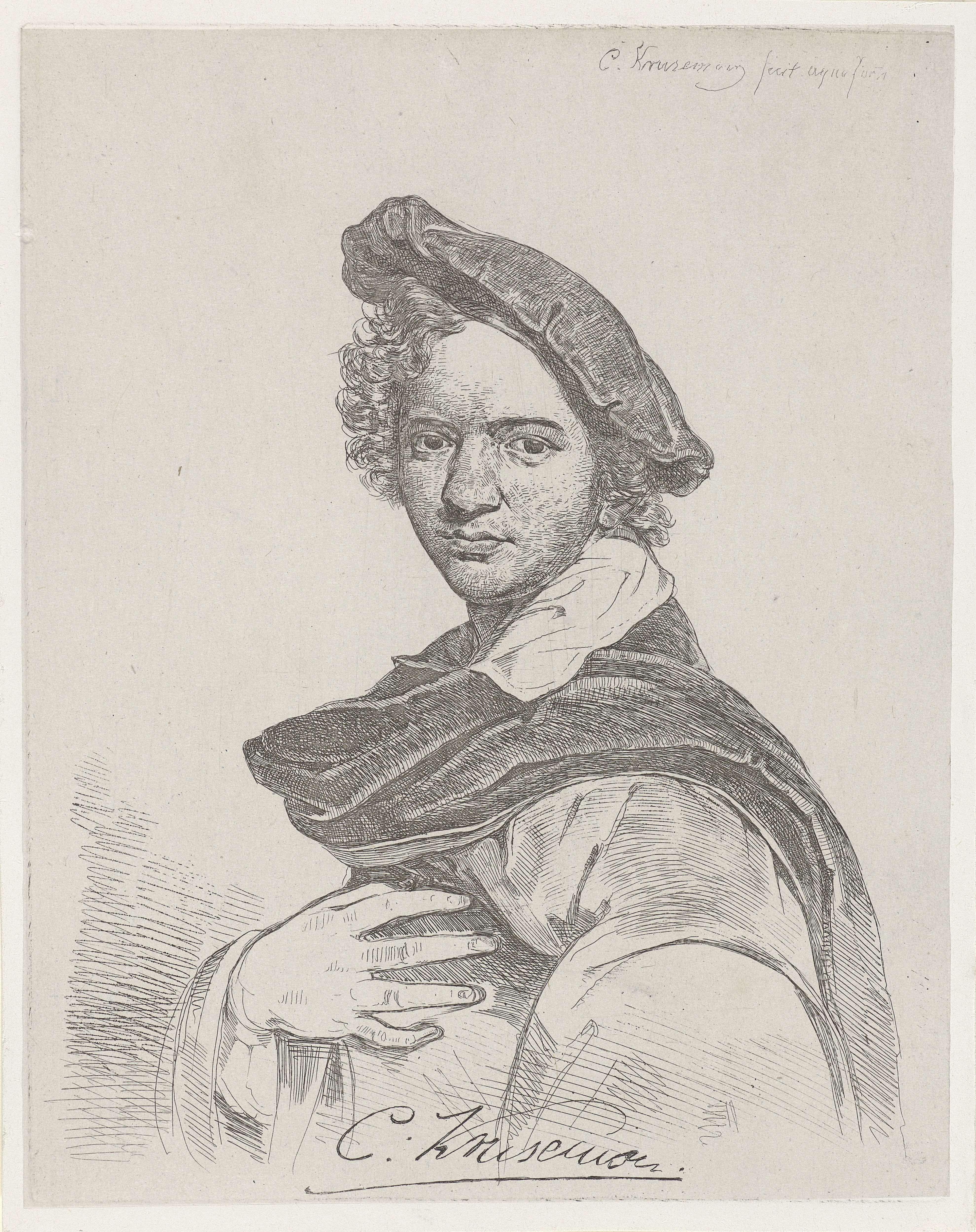 Cornelis Kruseman | Zelfportret, Cornelis Kruseman, 1807 - 1857 |