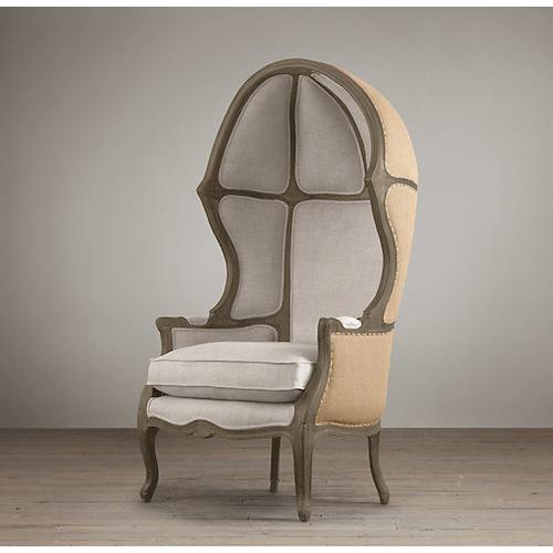 Restoration Hardware Versailles Burlap Backed Chair