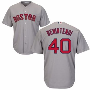 Youth Authentic Road Grey Boston Red Sox Andrew Benintendi Jersey Cool Base MLB  Majestic b8351898a
