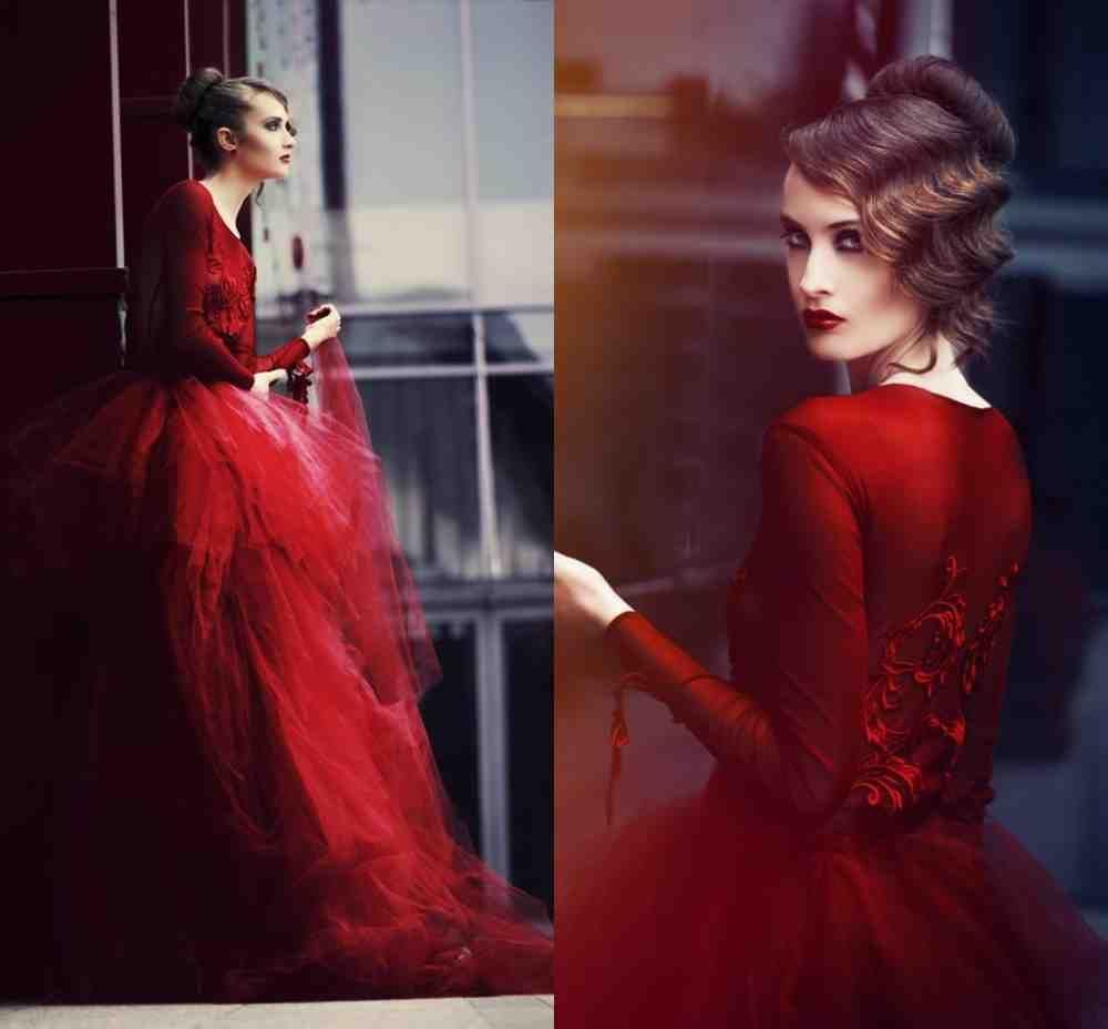 Dark Red Wedding Dress   red wedding dresses   Pinterest   Red ...