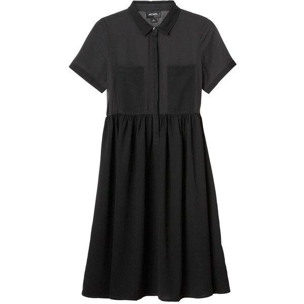 Elise dress (€45) ❤ liked on Polyvore featuring dresses, vestidos, black magic, black dress, monki, kohl dresses, see through black dress and transparent dress
