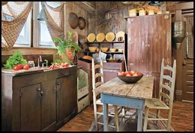 Nice rustic kitchen....