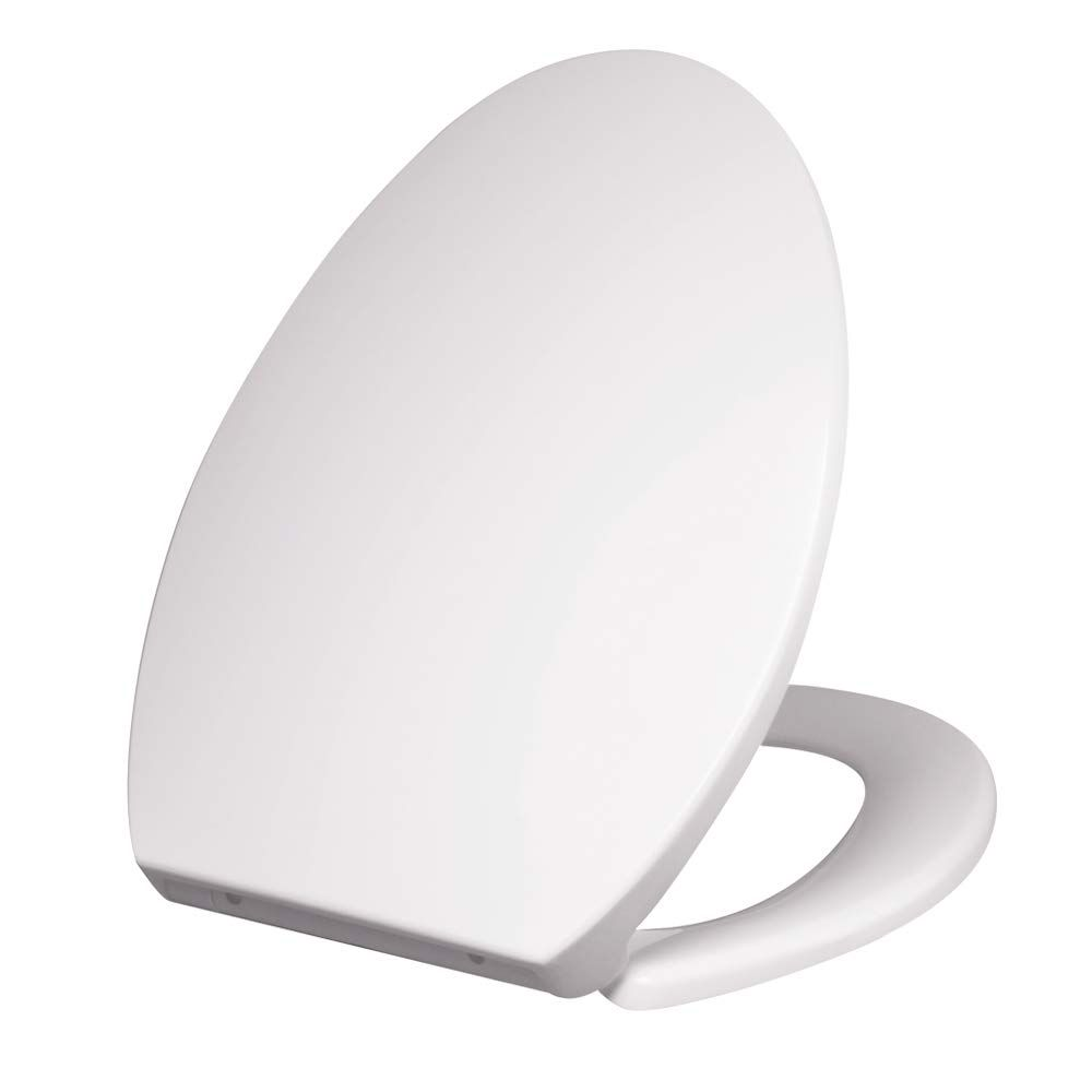 Purelux Toilet Seat With Cover Thermoplastic Elongated White