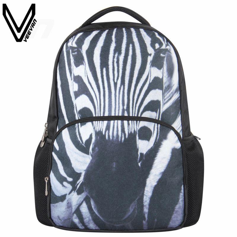 School bag fabric zebra