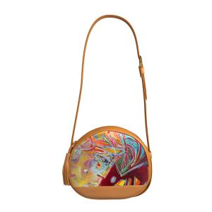 Lilly #design arts2be Cognac #handbag with Marie-Christine Thiercelin #artist