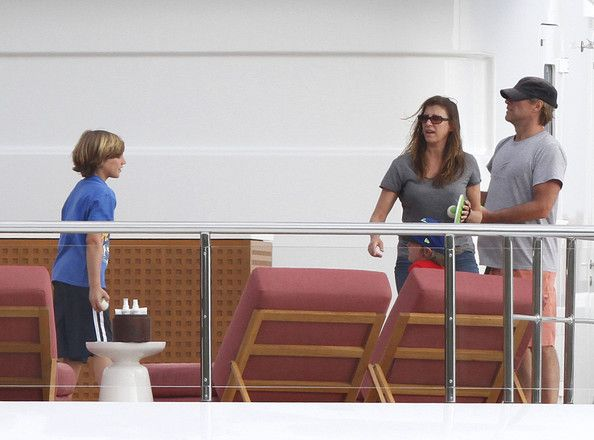 Jacob Bongiovi Exclusive... Musician Jon Bon Jovi and his family enjoy a day of relaxing on a yacht on March 30, 2012 in St Barts, Caribbean. The family had a blast playing catch with Velcro Stick-Ums (tennis ball and paddles) while continuing their tropic vacation.