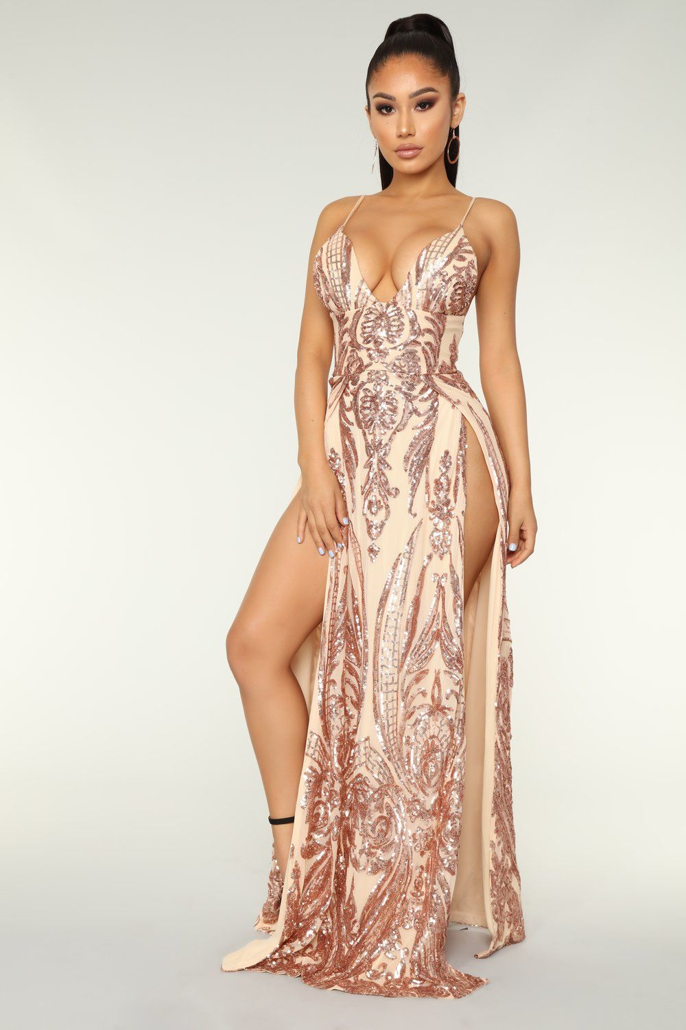 e4d46832858 Fame Excess Sequin Dress - Rosegold in 2019 | mis vecinas | Sequin ...