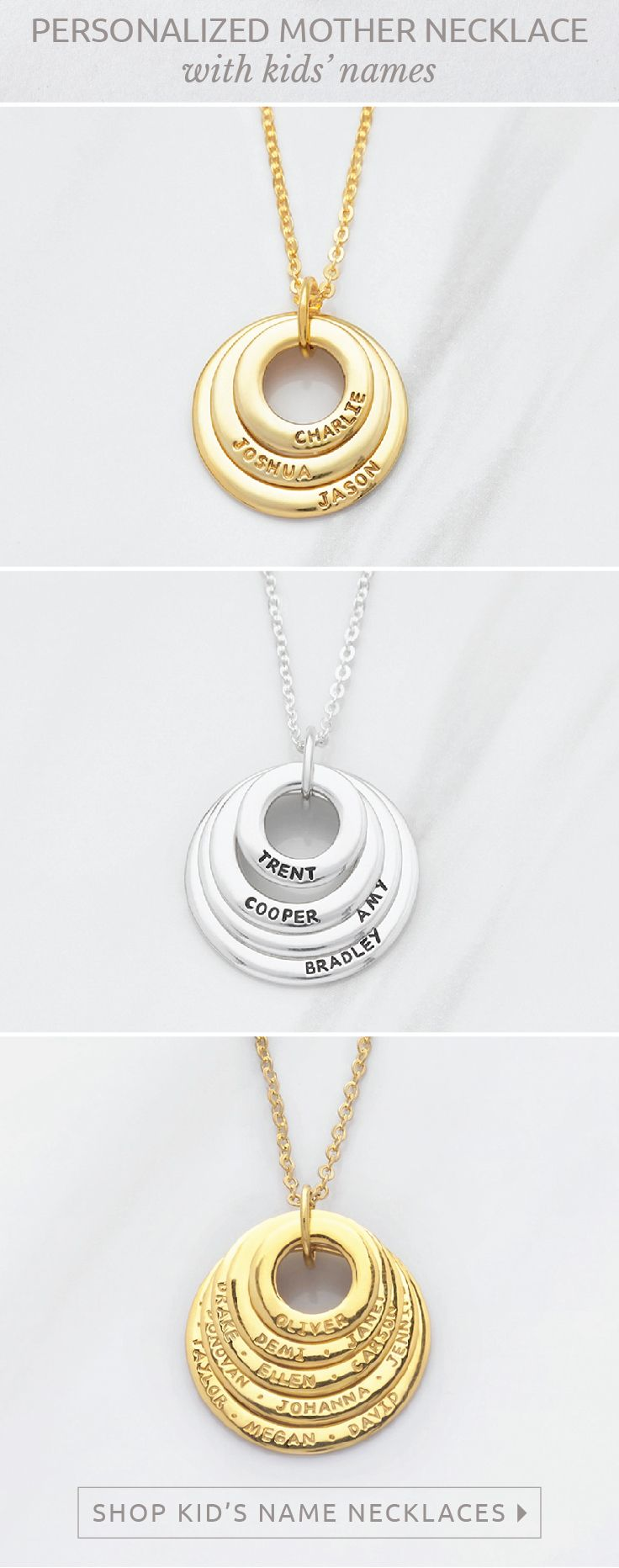 Grandma Necklace With Grandchildren S Names Circle