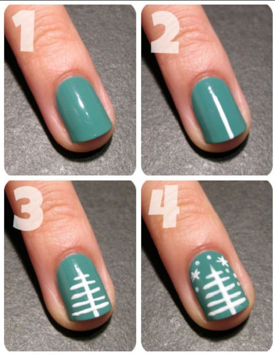 10 Christmas Nails Design & Easy DIY Step by Step | Christmas nail designs easy, Christmas nails ...