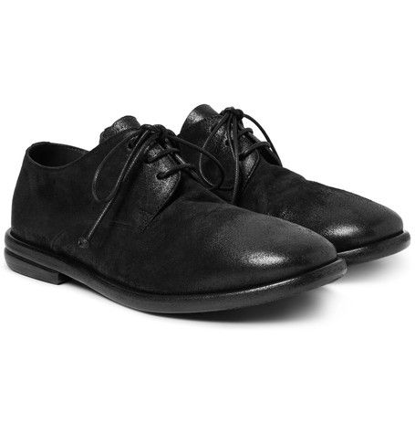 Washed-leather Derby Shoes - BlackMarsèll kVCqDm
