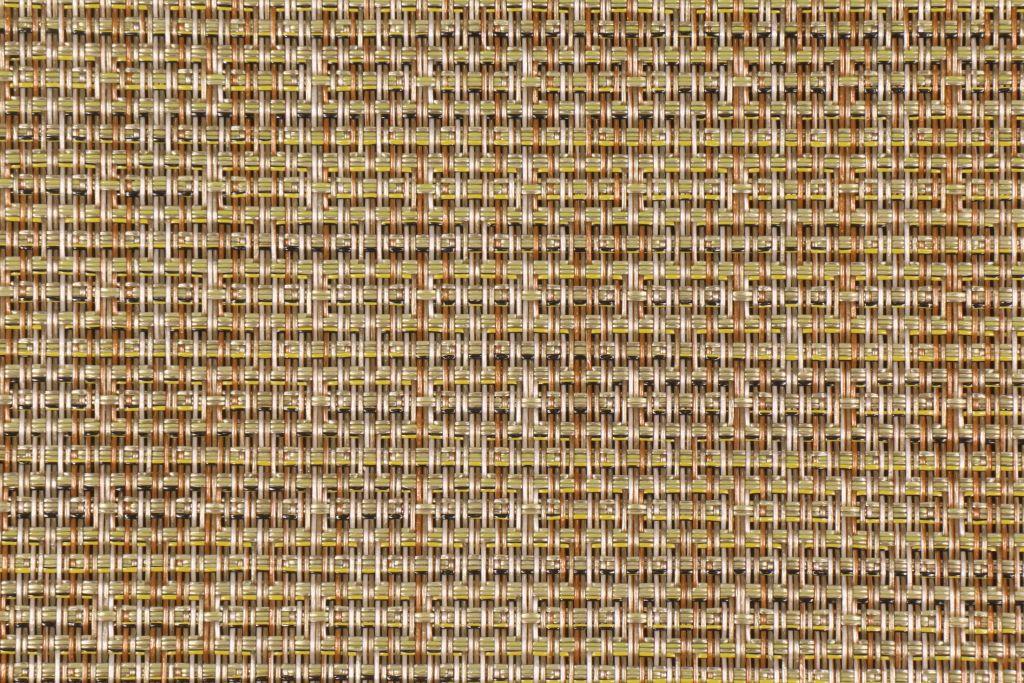 Bamboo tweed woven vinyl mesh sling chair outdoor fabric