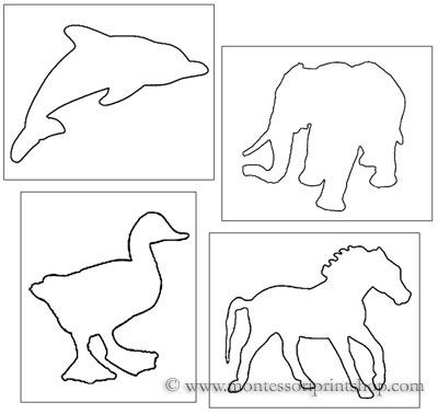 pin poking animal shapes printable montessori materials to help teachers save time for montessori - Printable Outlines
