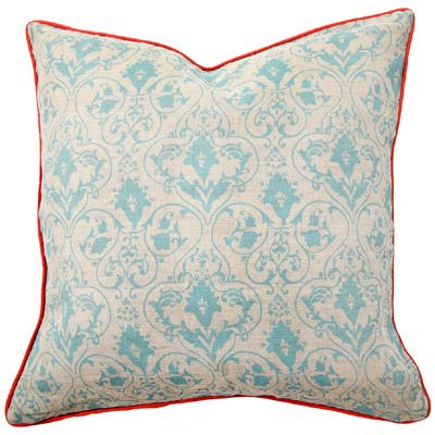 Aqua And Red Look Awesome Together Pillow Red Blue Aqua