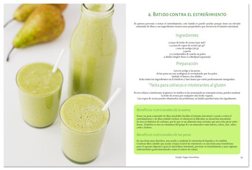 eBook 31 Smoothies: ejemplo de receta