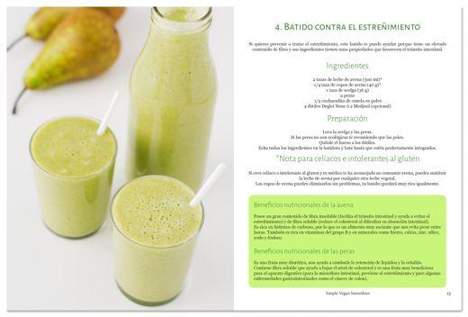 eBook 31 Smoothies: ejemplo de receta