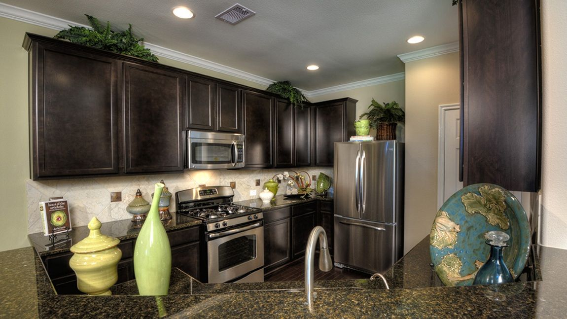 Stainless #steel #appliances give a polished finish to this ...