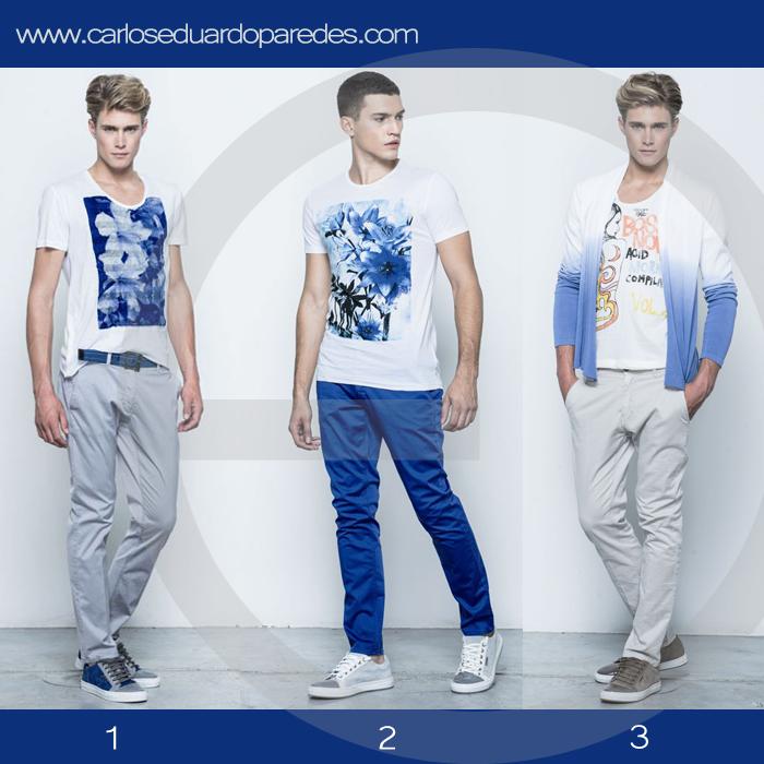 ¿Cuál es tu look favorito para el fin de semana? ¿1, 2 ó 3?  #ModaMasculina