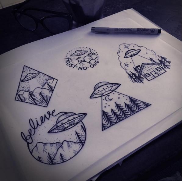Small X Files Tattoo: X-Files Flash Sheet By Mel Perlman