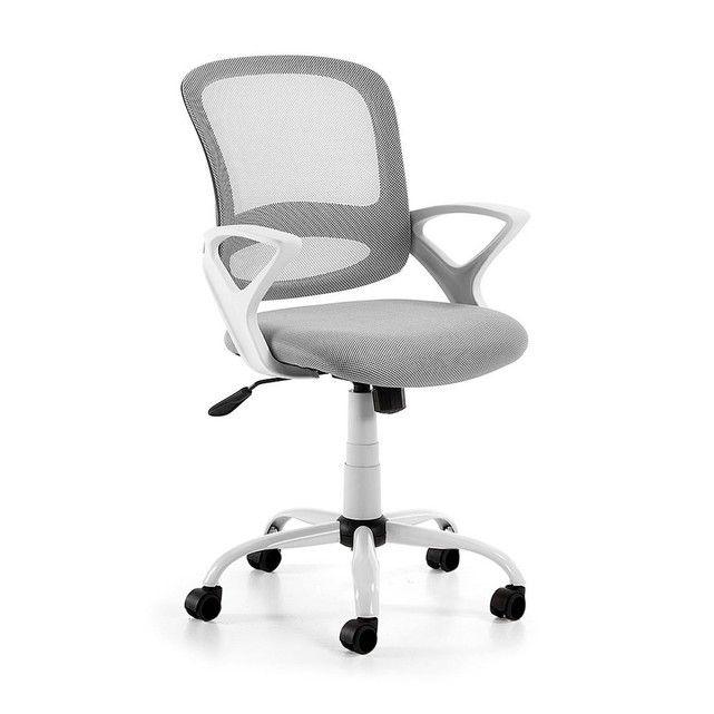 Chaise Bureau Tangier Gris Kavehome Fauteuil Bureau Chaise Bureau Bureau Pivotant