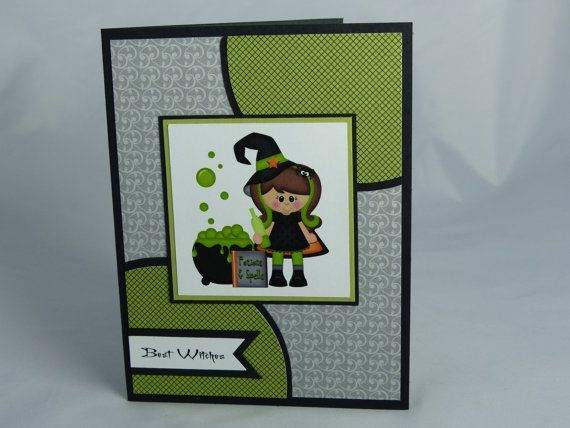 Handmade Happy Halloween Greeting Card   Trick Or Treat, Birthday, Witch,  Fun, Friend, Child, Girl, Daughter, Granddaughter, Niece