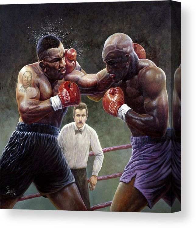 Tyson Holyfield Canvas Print Canvas Art By Gregory Perillo Mike Tyson Boxing Posters Tyson