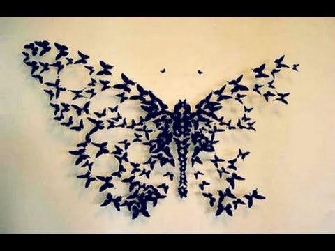 DIY: Butterflies Wall Decor | Butterfly wall decor, Butterfly wall ...