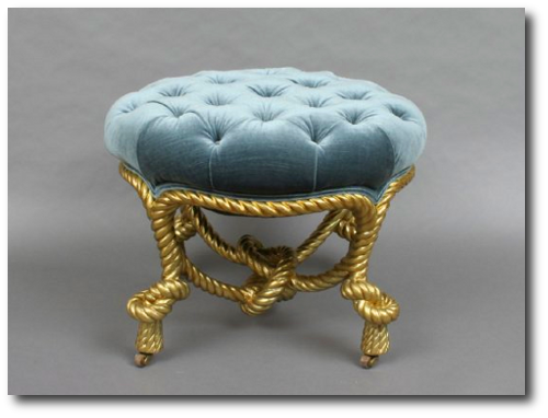 Attirant Italian Carved And Gilt Wood Rope Stool1.png 500