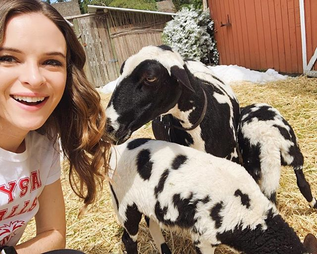 Making friends with the locals while on set.  Have you seen #ChristmasJoy yet?!