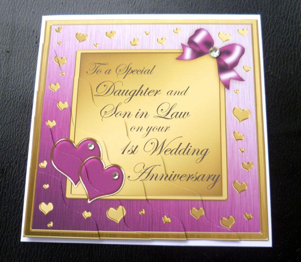 Daughter First Wedding Anniversary Cards Wedding
