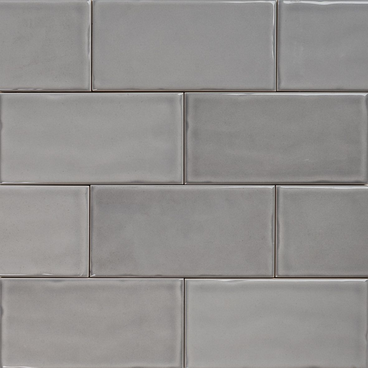 Subway Pale Grey Gloss Wall Tiles 15075 Classico Textured In